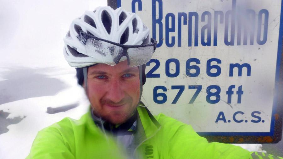 Na horskom sedle Bernandino