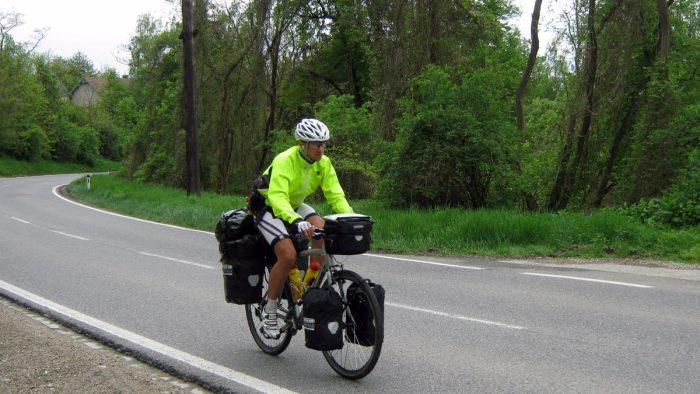 Karol na bicykli Rakúsko