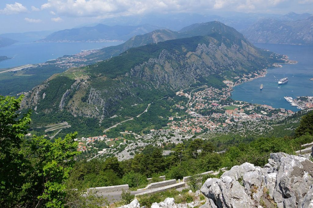 Stúpanie nad Boka Kotorska