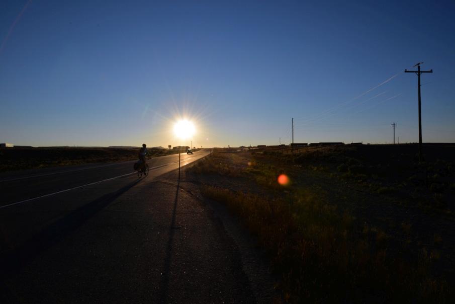 Cyklistika až do západu slnka